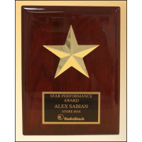 Star Casting Rosewood Plaque