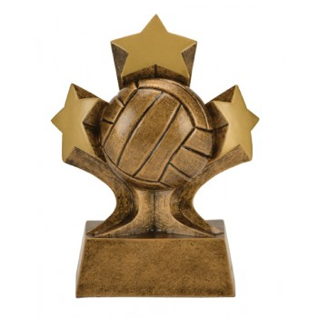 "5"" Tri Star Resin - Volleyball"