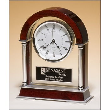 """10.5"""" Rosewood Clock"""