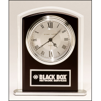 "6.5"" Glass & Wood Clock"