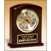 "6.75"" Rosewood Finish Clock"