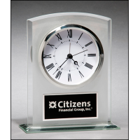 "6.25"" Glass Clock"
