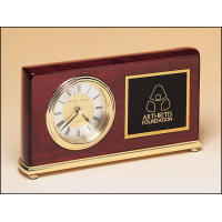 """7.625"""" Rosewood Clock"""