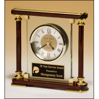 "7"" Rosewood & Glass Clock"