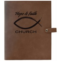 Custom Leatherette Book/Bible Cover with Snap