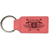 Custom Leatherette Rectangle Keychain