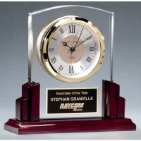 "6.5"" Glass Clock"