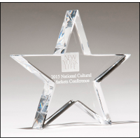 "4.125"" Crystal Star Award"