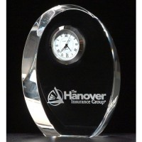 "4.875"" Crystal Clock Award"