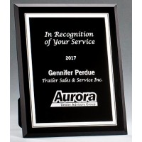 "5""x7"" -7""x9"" Glass Plaque - Black & Silver"