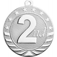"2"" Starbrite Medal - 2nd Place"