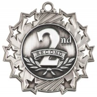 "2.25"" Ten Star Medal - 2nd Place"