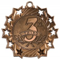 "2.25"" Ten Star Medal - 3rd Place"