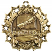 "2.25"" Ten Star Medal - Honor Roll"