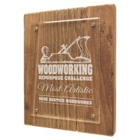 Reclaimed Wood Floating Acrylic Plaque