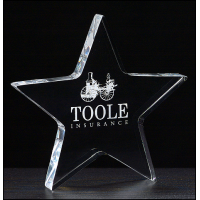 "5"" Star Paperweight Acrylic"
