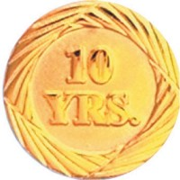 Chenille Pin - 10 Years