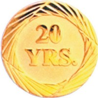 Chenille Pin - 20 Years