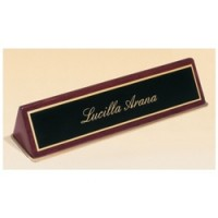 "9.5"" Piano Finish Desk Plate - 2 Colors"