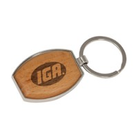 Wood Keychain - Oval