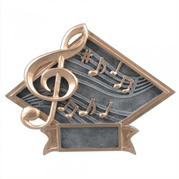 """6""""-8.5"""" Diamond Resin - Music"""