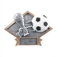"""6""""-8.5"""" Diamond Resin - Soccer"""