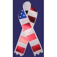 Awareness Ribbon - Red, White & Blue